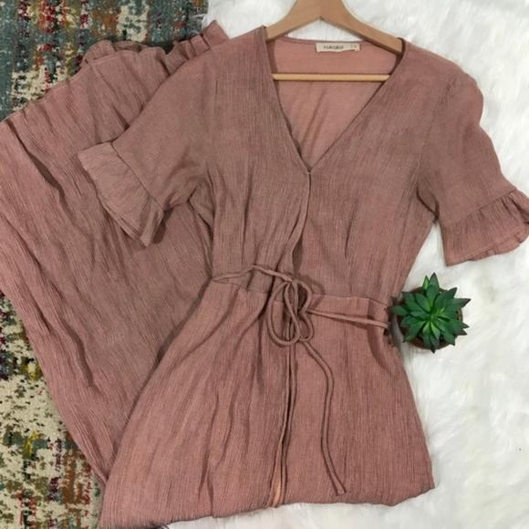 ASOS Dresses & Skirts - ASOS • Blush Maxi Wrap Dress